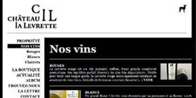 Le site Internet du Château la levrette !